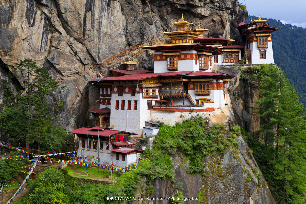 The Paro Taktsang or Tigers Nest in the Himalayan Kingdom of Bhutan