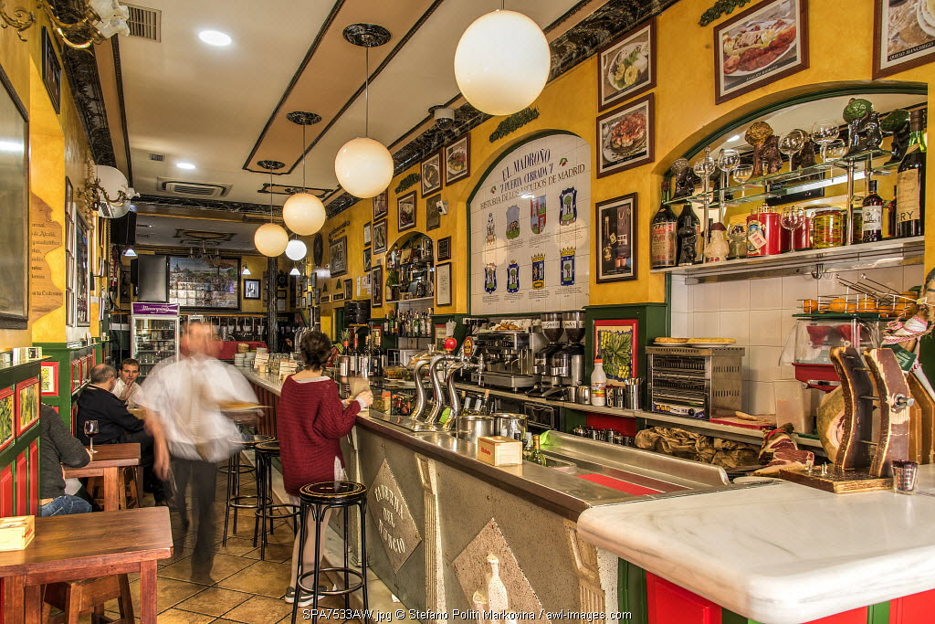 Tapas bar, Madrid, Community of Madrid, Spain